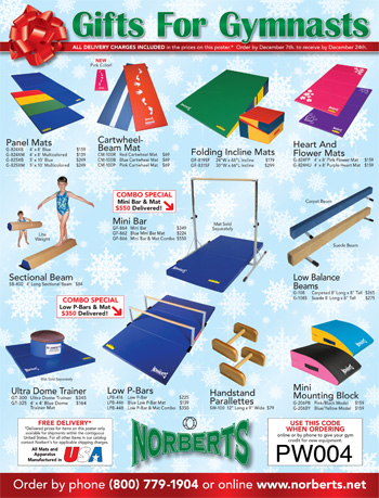 Holiday Gifts for Gymnasts