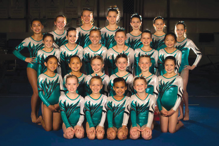 2012 girls gymnastics team photo